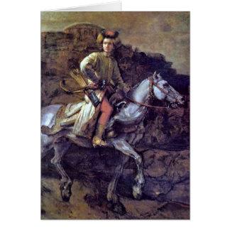 The Polish Rider By Rembrandt Van Rijn Card