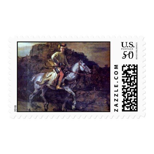 The Polish Rider. By Rembrandt Van Rijn Postage