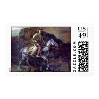 The Polish Rider. By Rembrandt Van Rijn Stamp
