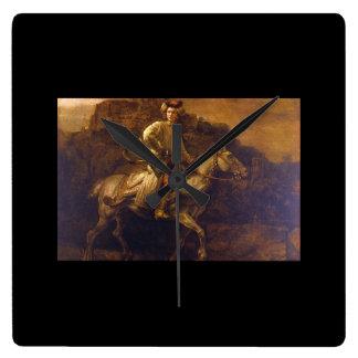 The Polish Rider', Rembrandt_Dutch Masters Square Wall Clock