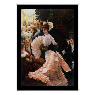 The Political Lady by James Tissot Poster