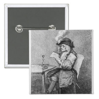 The Politician, etched by John Keyse Sherwin 2 Inch Square Button
