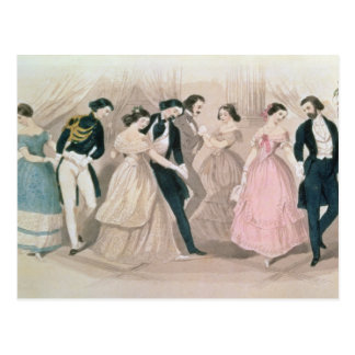 The Polka Fashions, from Godey's Lady's Book Postcard