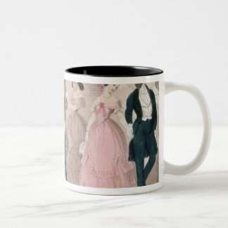 The Polka Fashions, from Godey's Lady's Book Two-Tone Coffee Mug