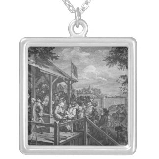 The Polling, 1758 Silver Plated Necklace