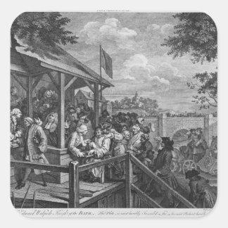 The Polling, 1758 Square Sticker