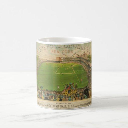 The Polo Grounds Baseball Stadium in 1887 Coffee Mug