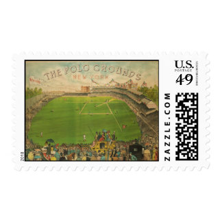 The Polo Grounds Baseball Stadium in 1887 Postage Stamp