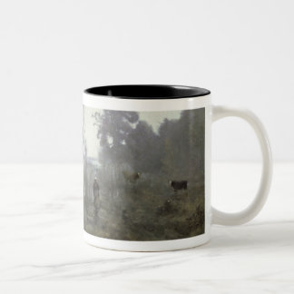 The pond at Ville d'Avray, 1868 (oil on canvas) Two-Tone Coffee Mug