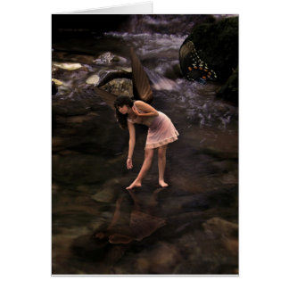 The Pond Fairy with Butterfly, Blank Card