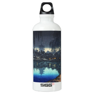 The Pond of Sarusawa Nara on a Rainy Evening Aluminum Water Bottle