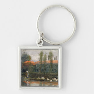 The Pond of William Morris Works at Merton Abbey ( Keychain