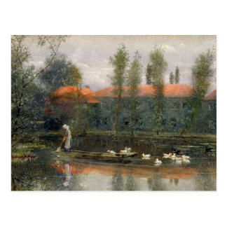 The Pond of William Morris Works at Merton Abbey ( Postcard