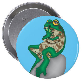 THE PONDER FROG PINBACK BUTTON