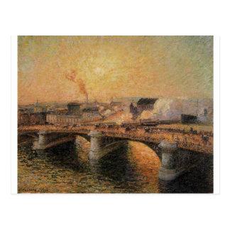 The Pont Boieldieu, Rouen, Sunset Camille Pissarro Postcard