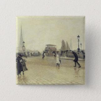 The Pont Corneille, Rouen, 1891 Button