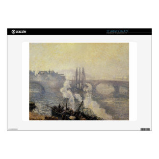 "The Pont Corneille, Rouen, Morning Mist by Camille 15"" Laptop Skin"