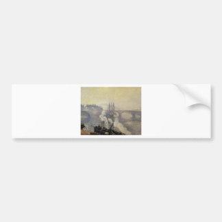 The Pont Corneille, Rouen, Morning Mist by Camille Car Bumper Sticker