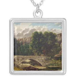 The Pont de Fleurie, Switzerland, 1873 Silver Plated Necklace