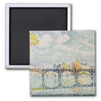 The Pont des Arts, 1928 2 Inch Square Magnet