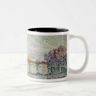 The Pont des Arts, 1928 Two-Tone Coffee Mug