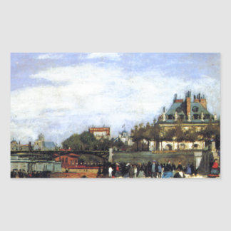The Pont des Arts and the Institut de France Rectangular Sticker