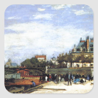 The Pont des Arts and the Institut de France Square Sticker
