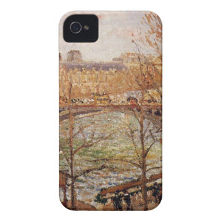The Pont du Carrousel, Afternoon Camille Pissarro iPhone 4 Case-Mate Case