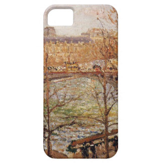 The Pont du Carrousel, Afternoon Camille Pissarro iPhone SE/5/5s Case