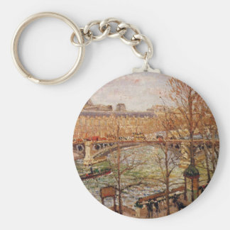 The Pont du Carrousel, Afternoon Camille Pissarro Keychain