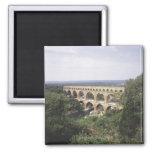 The Pont du Gard 2 Inch Square Magnet