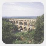 The Pont du Gard Square Sticker