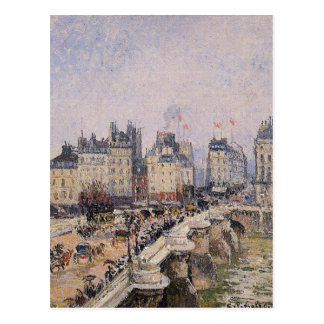 The Pont Neuf 2 by Camille Pissarro Postcard