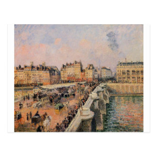 The Pont Neuf, Afternoon by Camille Pissarro Postcard