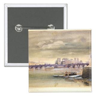The Pont-Neuf and the Ile de la Cite, 1881 Pinback Buttons