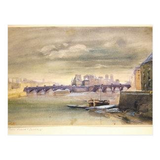 The Pont-Neuf and the Ile de la Cite, 1881 Postcard