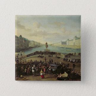 The Pont Neuf, Paris, 1665-69 Pinback Button