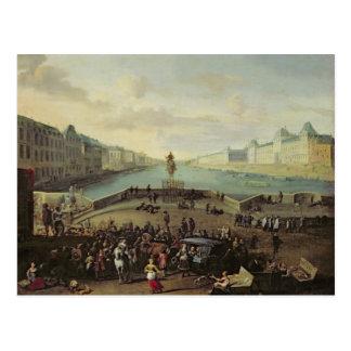 The Pont Neuf, Paris, 1665-69 Postcard