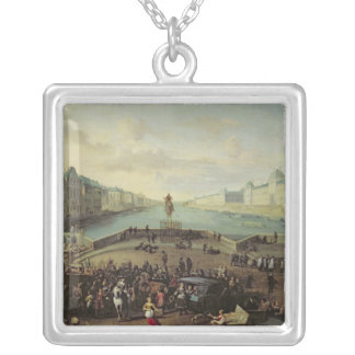 The Pont Neuf, Paris, 1665-69 Silver Plated Necklace