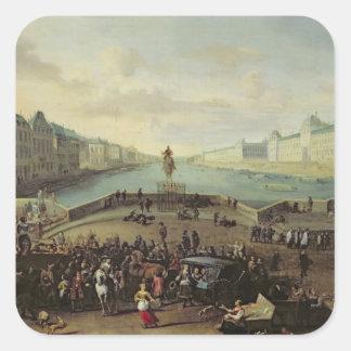The Pont Neuf, Paris, 1665-69 Square Sticker