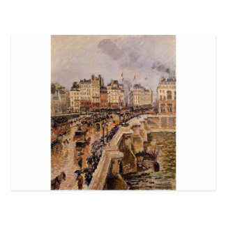 The Pont Neuf, Rainy Afternoon by Camille Pissarro Postcard