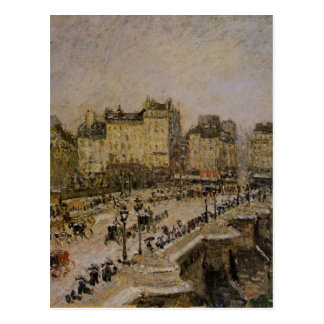 The Pont Neuf, Snow by Camille Pissarro Postcard