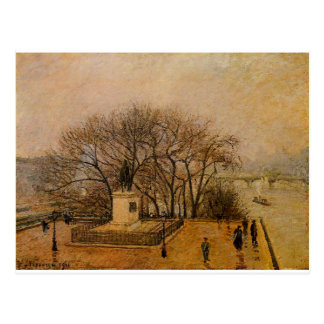 The Pont Neuf, Statue of Henri IV, Mist by Camille Postcard