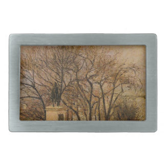The Pont Neuf, Statue of Henri IV, Mist by Camille Rectangular Belt Buckle