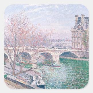 The Pont-Royal and the Pavillon de Flore Square Sticker