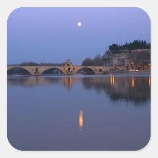 The Pont St. Benezet bridge in Avignon on the Square Sticker