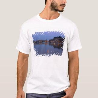 The Pont St. Benezet bridge in Avignon on the T-Shirt