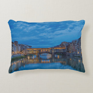 The Ponte Vecchio in Florence Accent Pillow