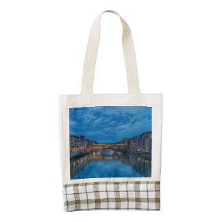 The Ponte Vecchio in Florence Zazzle HEART Tote Bag