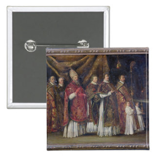 The Pontifical Mass or, The Procession 2 Inch Square Button